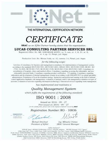certificat IQ NET